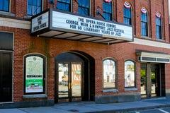 Newport operahus på Touro St Newport, RI Arkivbild
