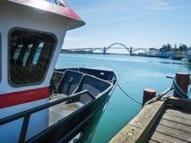 Newport, Oregon. Bay and bridge Royalty Free Stock Photos