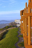 Newport Oregon lodging with a view. Stock Photos