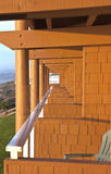 Newport Oregon lodging with a view. Stock Image