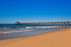 Newport pier beach in California USA Royalty Free Stock Images