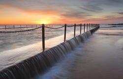 Newport Pool sunrise Stock Photo