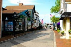 Newport, Rhode Island. Bowens Wharf, Newport, Rhode Island in the summertime stock photo