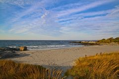 Newport Rhode Island beach stock photography