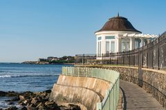 Newport, Rhode Island Coastline Walkway immagine stock