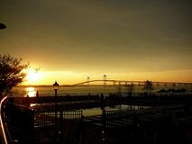 Newport Rhode Island Sunset Royaltyfri Foto