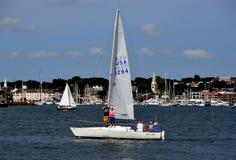 Newport, RI: Żaglówki na Narragansett zatoce Zdjęcia Royalty Free