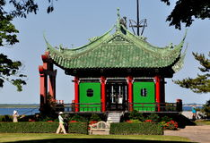 Newport, RI: Chinese Tea House at Marble House Stock Photography