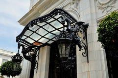 Newport, RI: Entrance Lanterns at Rosecliff Mansion Royalty Free Stock Photography