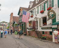 NEWPORT, RI - JULY 10, 2008: Tourists in city streets. Newport t Stock Image