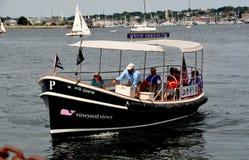 Newport, RI: Newport Harbor Shuttle Taxi Stock Photo