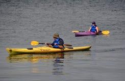 Newport, RI: People in Kayaks Stock Images