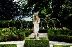 Newport, RI: Rose Garden at Rosecliff Mansion Stock Image