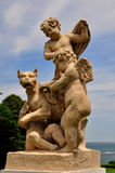 Newport, RI;  Statuary at Rosecliff Mansion Stock Image