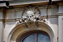 Newport, RI: Window Detail at The Elms Mansion Royalty Free Stock Images