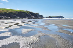 Newport sander, NEWPORT FJÄRD Pembrokeshire DYFED wales UK Royaltyfria Bilder