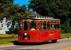 Newport spårvagnbuss Fotografering för Bildbyråer