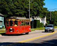 Newport spårvagnbuss Royaltyfria Foton
