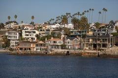 Newport-Strand-Häuser Lizenzfreies Stockbild