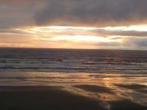 Newport strand oregon Royaltyfri Bild
