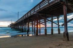 Newport strandpir Fotografering för Bildbyråer