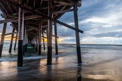 Newport strandpir Royaltyfri Foto