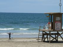 Newport-Surfer Lizenzfreies Stockfoto
