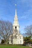 Newport Treenighetkyrka, Rhode - ö, USA Arkivbild