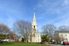 Newport Treenighetkyrka, Rhode - ö, USA Royaltyfria Foton