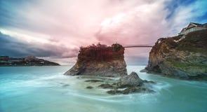 Newquay吊桥, Newquay,康沃尔郡,英国, 免版税图库摄影