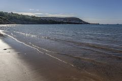 Newquay κατά τη λιμενική άποψη της Ουαλίας στοκ εικόνα