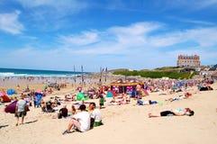 newquay пляжа fistral стоковая фотография rf