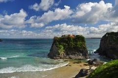 Остров Newquay, Корнуолл, Англия, Великобритания Стоковое Изображение RF