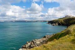 Newquay Bay and coast Cornwall England UK Royalty Free Stock Photos