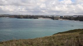 Newquay Bay Cornwall England UK stock footage