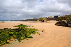 Newquay beach Cornwall uk towan one of several beaches Stock Photos