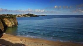 Newquay beach stock video footage
