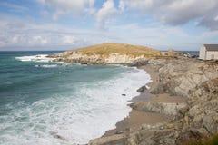 Newquay coast Cornwall England UK at Towan Head Royalty Free Stock Photos
