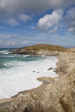 Newquay coast Cornwall England UK at Towan Head Stock Images
