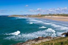 Newquay Cornwall England Royaltyfria Bilder