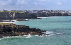 Newquay, Cornwall from Porth Stock Images