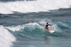 newquay Cornwall surfing England Fotografia Royalty Free