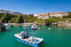 Newquay hamn Cornwall EnglandUK royaltyfria bilder