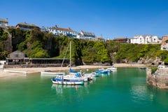 Newquay hamn Cornwall EnglandUK royaltyfri bild