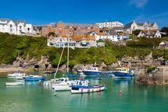 Newquay hamn Cornwall EnglandUK royaltyfri fotografi