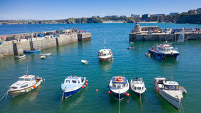 Newquay hamn i Cornwall, England Arkivbilder