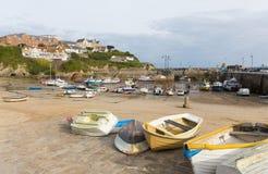 Newquay hamn norr Cornwall England UK Arkivfoton