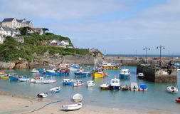 Newquay harbour. A view of the boats in Newquay Harbour on a sunny day Stock Images