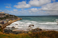 Newquay harbour and beach Royalty Free Stock Photography
