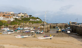 Newquay harbour boats North Cornwall England UK Stock Photography